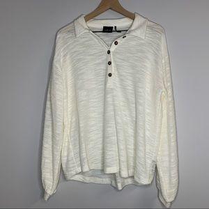 urban outfitters | cream button down shirt